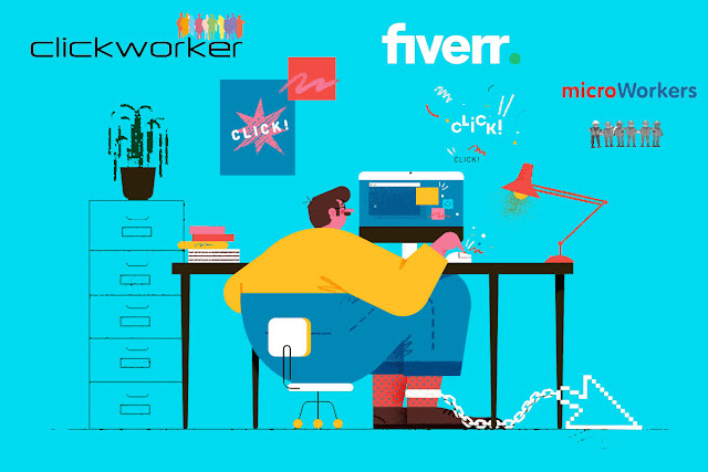Fiverr vs Microworkers vs Clickworkers Review