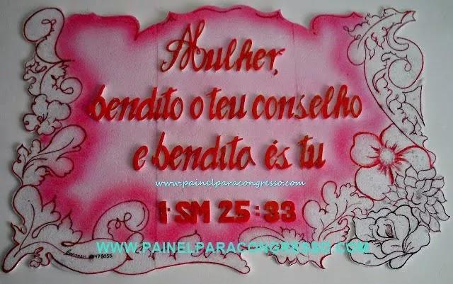 PAINEL PARA O DIA DAS MÃES  - 1º Samuel 25:33