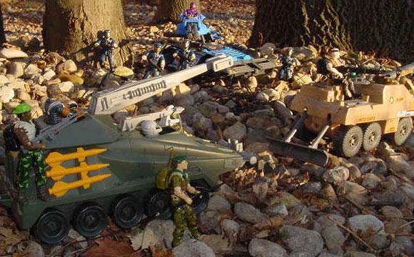 1984 Scrap Iron, 1997 Rage, Slugger, 1998, Cobra Trooper, 1986 Viper, Beach Head, Blocker, Battleforce 2000, 2001 Gung Ho, Recoil, 1989, 1987, Falcon