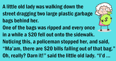 Cops Stop An Old Lady Carrying A Bag Full Of Cash. Her Explanation Is Pure Gold
