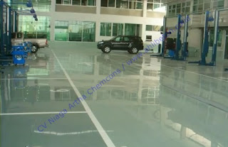 cat epoxy lantai showroom