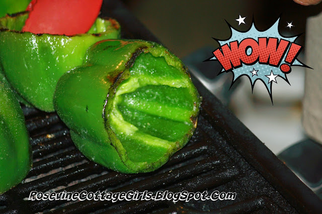 Grilling bell peppers, Stuffed Bell Peppers, fire roasted stuffed bell peppers, stuffed bell pepper recipe, stuffed bells, By Rosevine Cottage Girls | rosevinecottagegirls.com