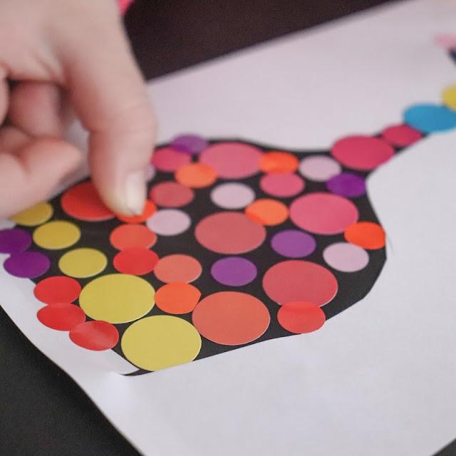 gommettes rondes multicolores