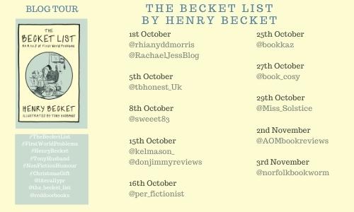 Becket List Book Tour