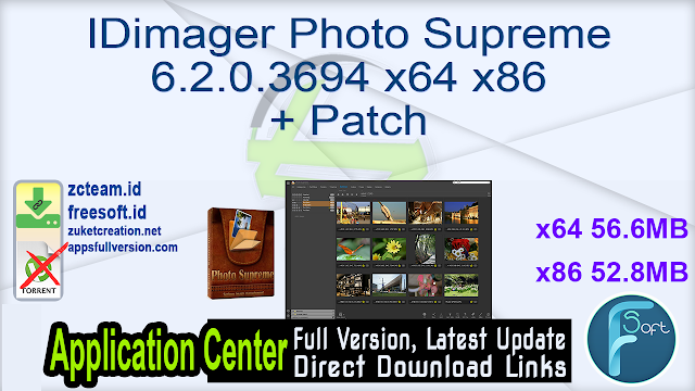 IDimager Photo Supreme 6.2.0.3694 x64 x86 + Patch_ ZcTeam.id
