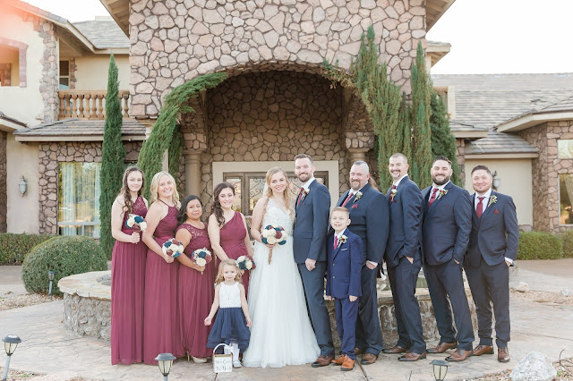 Superstition Manor Weddings Bridal Party by Micah Carling Photography