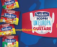 Logo Concorso Sottilette ''Europa da gustare 2020'' : vinci voucher viaggio da 10000 euro