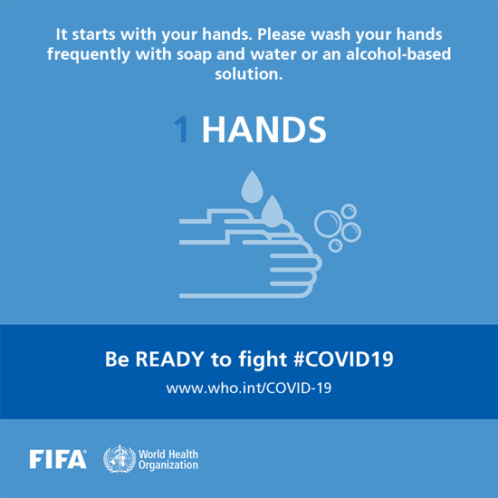 Please wash your hands frequently with soap and water or an alcohol-based solution.