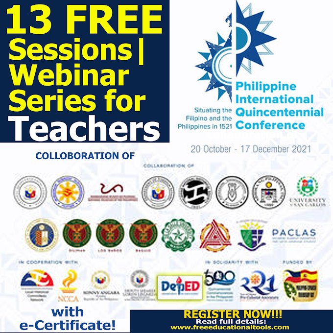 13 FREE Sessions Webinar-Conference | Philippine International Quincentennial Conference 2021 | October 20 - November 17 | REGISTER NOW!