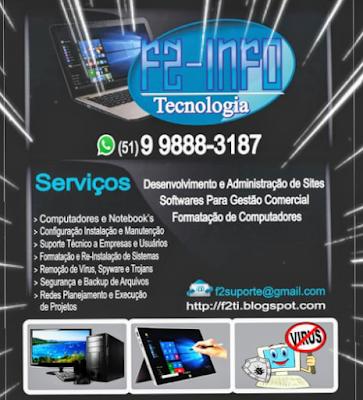 Criação de sites, formatação de PC e notebook, instalação do Windows