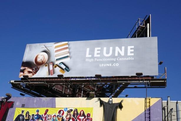 Leune high functioning cannabis billboard