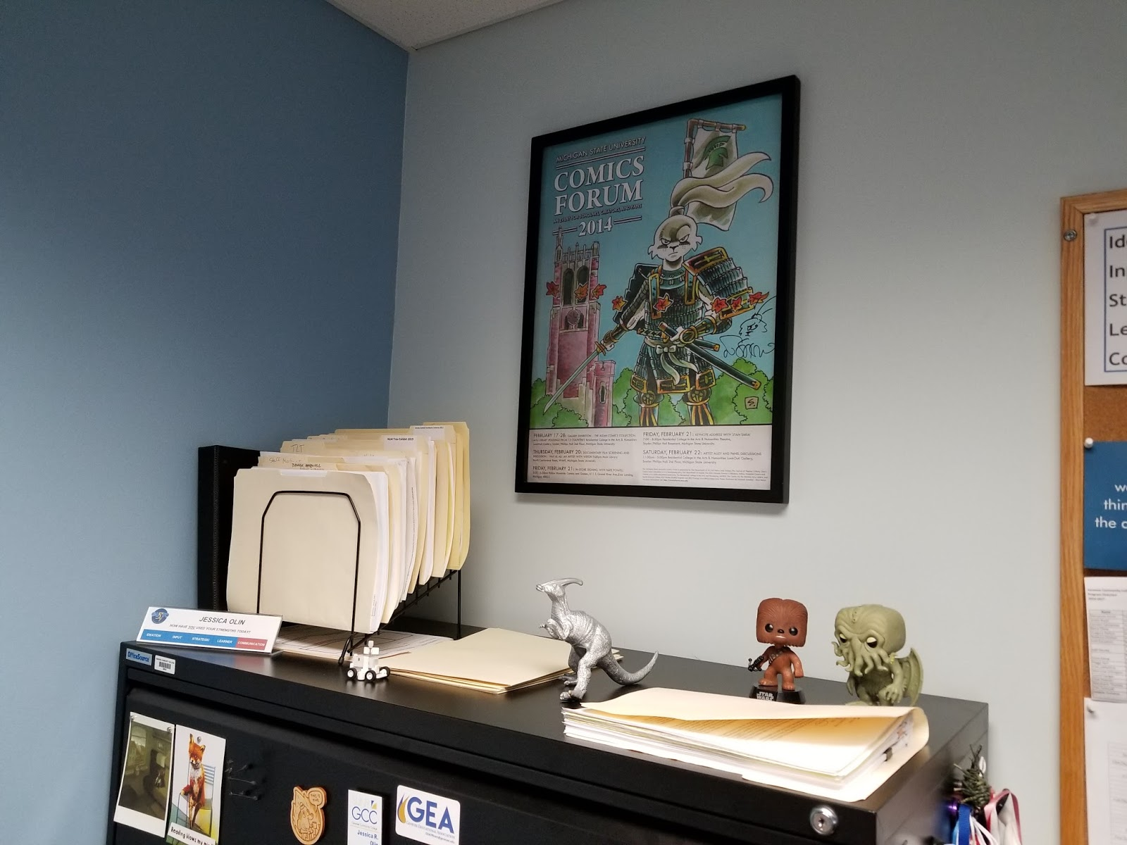 decorate office jessica. It Wouldn\u0027t Really Be My Office Without Usagi, And This Is The Signed Poster That Ranti Junus Got For Me Years Ago. Decorate Jessica I