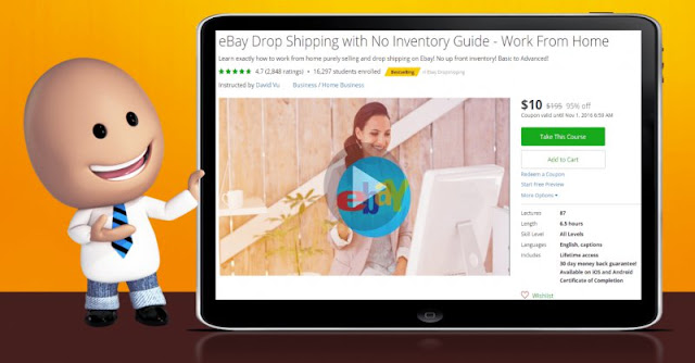 [95% Off] eBay Drop Shipping with No Inventory Guide - Work From Home|Worth 195$
