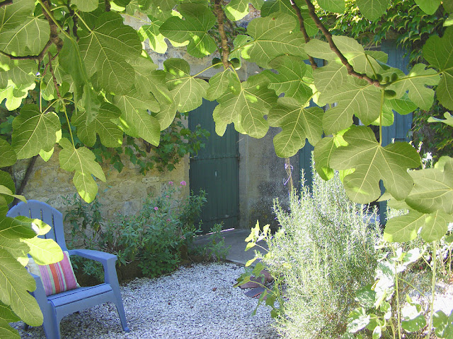 Holiday cottage private entrance and garden. Charente-Maritime. France. Photo by Loire Valley Time Travel.
