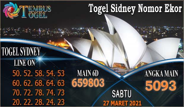 Sidney Togel Nomor Belakang, Sabtu Tanggal 27 Maret 2021