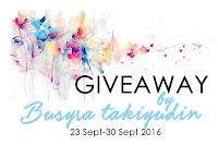 Giveaway Busyra Takiyudin Banner