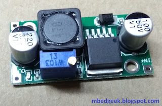Commercially available LM2596 Converter Module