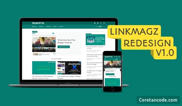 Free Download Linkmagz Redesign Blogger Template
