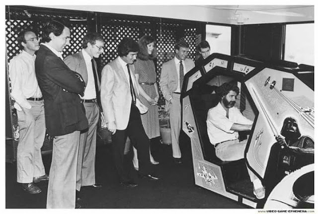 george lucas playing arcade