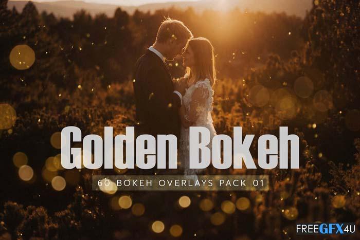 60 Golden Bokeh Pack 01 lights