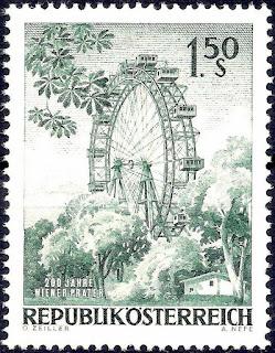Austria 1966 Vienna Ferris Wheel