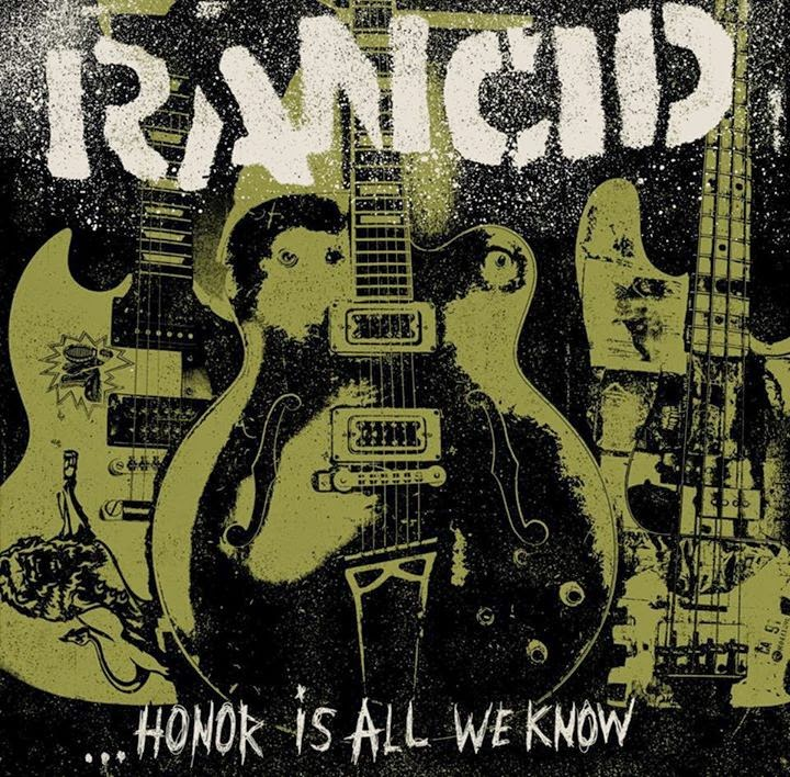 Rancid T Shirt Honor is All We Know Band Logo Nouveau Officiel Homme