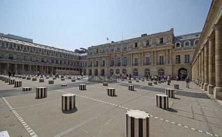 Praça do Palais Royal em Paris