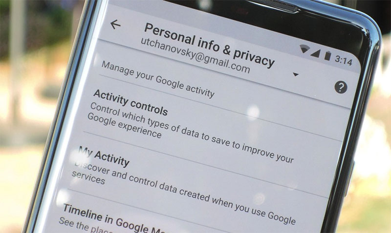 google collecting user data