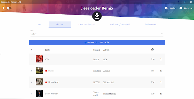 Deezer Music Download - Deezer Müzik indirme programı