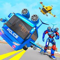 Flying Bus Robot Transform War- Police Robot Mod Apk