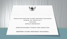 PMA No 58 Tahun 2017 Tentang Kepala Madrasah Format PDF