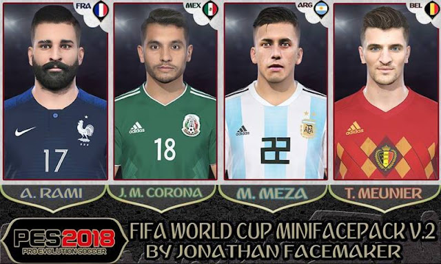 Fifa World Cup Facepack PES 2018