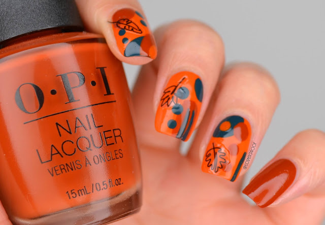 Abstract Fall Nail Art