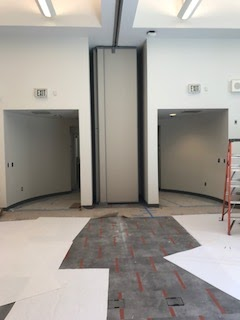 Meeting Room Divider in its housing