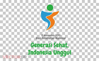 Logo Hari Kesehatan Nasional (HKN) 12 November 2019: Generasi Sehat, Indonesia Unggul - Download Vector File PNG (Portable Network Graphics)