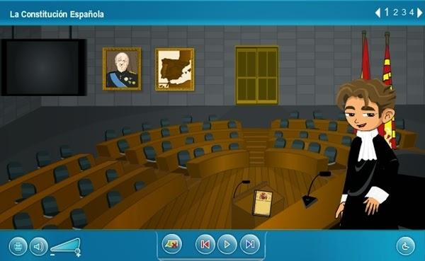 """""""La Constitución Española"""" (Aplicación interactiva de Ciencias Sociales)"""