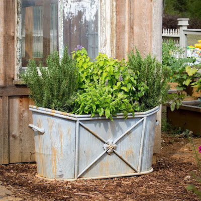 french country metal garden planter