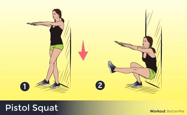 Pistol squat