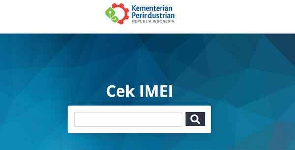 Tampilan situs resmi Cek IMEI Kemenperin