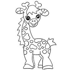 Printable Baby Giraffe Coloring Sheet Ideas