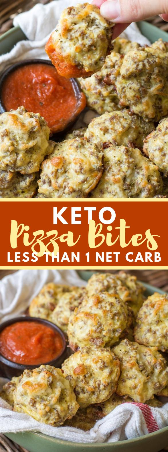 Easy Keto Pizza Bites #healthy #ketodiet