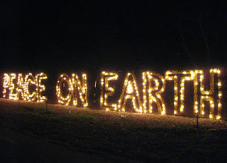 Light display: Peace on Earth. Vasona Lake County Park, Los Gatos, California