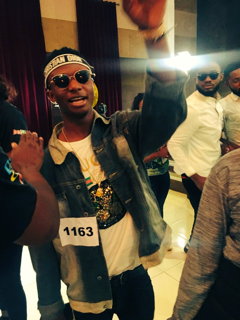 See Star Boy Wizkid At The Big Brother 2019 Audition #BBNaija - NALUCOOL