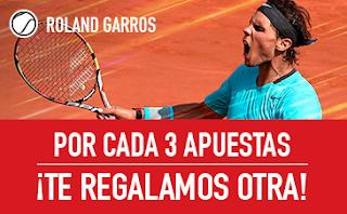 sportium Promo Roland Garros: Por cada 3 apuestas ¡Te damos otra! 3-9 junio