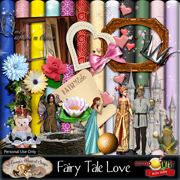 "February Scrap Twist Blogtrain - ""Fairy Tale Love"""
