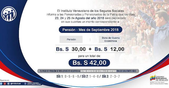 El pírrico monto que cobraran los pensionados en bolívares soberanos