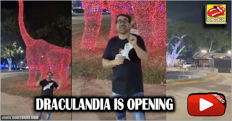 Draculandia abre el 10 de diciembre en Carabobo y Lacava está feliz