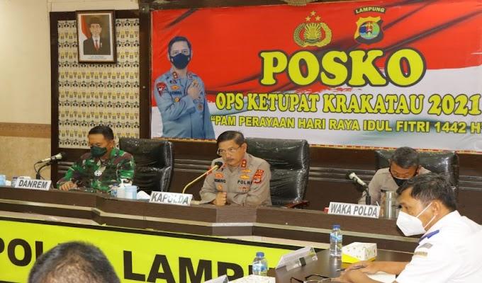 Antisipasi Arus Balik 2021, Polda Lampung Gelar Rakor Terbatas