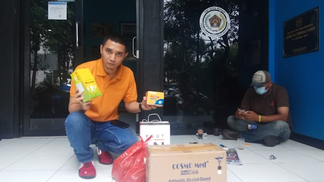PWI Peduli Pusat Kirim Bantuan Kesehatan dan Vitamin ke PWI Kota Bogor
