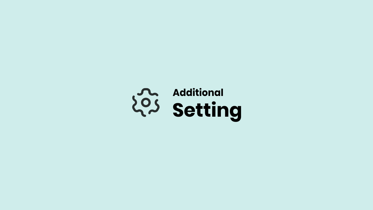 Additional Settings for Fletro pro